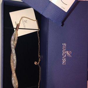 Swarovski Jewelry - Elegant Two-Tone Swarovski Stardust Twist Necklace